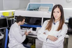 Modern medical laboratory. Colleagues at work in a medical laboratory Stock Image