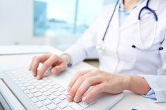 Modern medical person Stock Photography