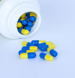 Modern medicine. Medicine capsule. The appearance of the tablet Royalty Free Stock Images