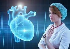 Modern medicine cardiology concept Stock Images