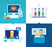 Modern medicine, technology, methods of treatment, and an online consultation Stock Photos
