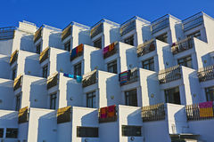 Modern Mediterranean hotel. Modern Mediterranean resort hotel, Majorca, Spain Royalty Free Stock Photos