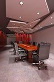 Modern meeting room. 3d rendering interior of a modern meeting room