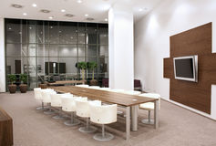 Modern meeting room. With a chairs and table Royalty Free Stock Image