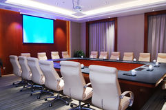 Modern meeting room. Meeting room with blank bulletin Royalty Free Stock Photo