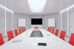 Modern Meeting Room. 3d Illustration. Stock Photos