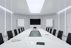 Modern Meeting Room. 3d Illustration. Royalty Free Stock Image