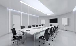 Modern Meeting Room. 3d Illustration. Modern White Meeting Room. 3d Illustration Royalty Free Stock Photos