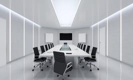 Modern Meeting Room. 3d Illustration. Modern White Meeting Room. 3d Illustration Royalty Free Stock Photo