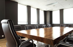 Modern meeting room. With solid wood table Stock Image