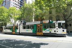 Modern Melbourne Tram the famous iconic transportation in the town Royalty Free Stock Images