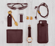 Modern men's  accessories Royalty Free Stock Photos