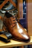 Shoes. Modern men`s shoes suitable for all events suitable as a background or abstract Stock Photography