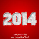 Modern Merry Christmas and Happy New Year greeting card. Vector eps10 illustration stock illustration