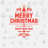 Modern Merry Christmas and New Year greetings badge emblem Royalty Free Stock Image