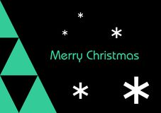 Modern Merry Christmas Royalty Free Stock Image