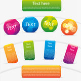 Modern message notes set. Modern colorful message notes set Royalty Free Stock Images