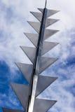 Modern metaalbeeldhouwwerk Stock Fotografie