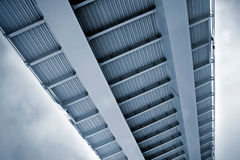 Modern metal bridge Stock Images