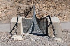 Modern metal bridge Stock Images