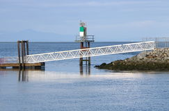 Modern Metal Bridge Walkway Royalty Free Stock Images