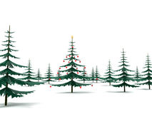 Modern metal Christmas Tree in the fores Royalty Free Stock Photos