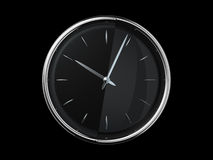 Modern metal clock Stock Photography