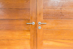 Modern metal door handle Stock Images