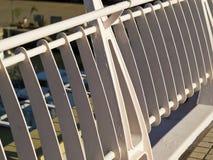 Modern metal fence Stock Photo