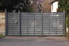 Modern metal gate Royalty Free Stock Photo