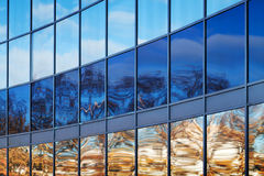 Modern metal and glass wall Royalty Free Stock Photo