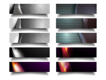 Modern Metal Horizontal Banner Pack Stock Images