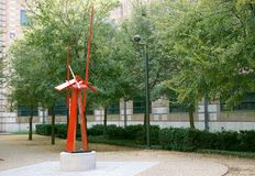 Modern metal sculpture in academia Stock Photography