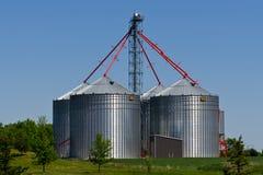 Modern metal silos Royalty Free Stock Photos