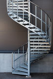 Modern metal spiral staircase Stock Images