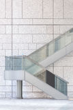 Modern metal stair at office building Stock Photo