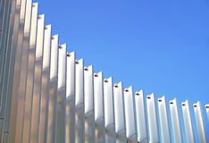 Modern metal structure. With blue sky stock image