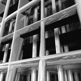 Modern metal structure detail. Modern structure detail made from metal with lot of reflections and shadows. Highly detailed Stock Photography
