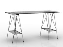 Modern metal table Royalty Free Stock Photo