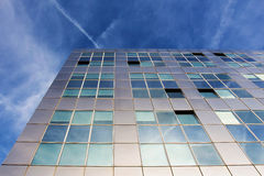 Modern metallic architecture against blue sky Royalty Free Stock Images