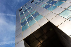 The modern metallic architecture against a blue sky Royalty Free Stock Photography