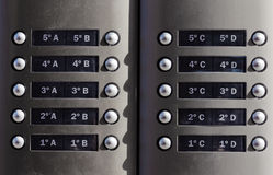 Modern metallic doorbell Royalty Free Stock Photos