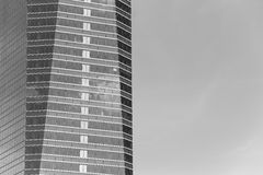 Modern metallic and glass building facade in black and white Royalty Free Stock Image