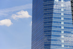 Modern metallic and glass building facade in blue tone Royalty Free Stock Image