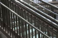 Modern metallic stairs stock images