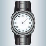 Modern metallic watch Stock Photos
