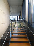 Modern Metel Stairs With Wooden Staircase Royalty Free Stock Photos