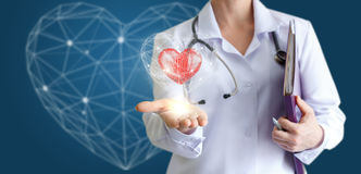 Modern methods of treatment of the heart. Royalty Free Stock Photo