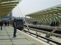 Modern metro line, Turkey. Royalty Free Stock Images