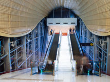 Modern metro railway station in Dubai United Arab Emirates Royalty Free Stock Image